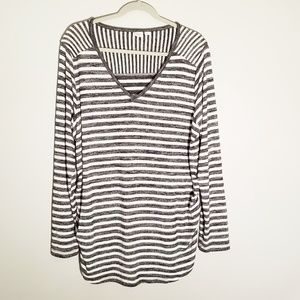 Gap Maternity Long Sleeve Striped Top | Size XL